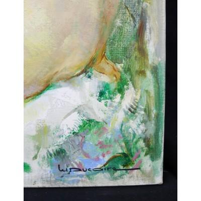Maryse DUCAIRE-ROQUE (1911-1992), NU DE DOS, HUILE / TOILE.