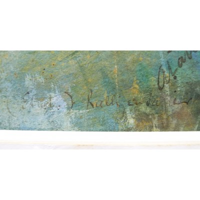 RALLYE MILITAIRE, GRANDE AQUARELLE signée vers 1890, ETUDE.