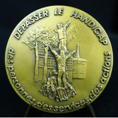 MEDAILLE en BRONZE, ASSOCIATION des PARALYSES de FRANCE, PARIS, 1993.