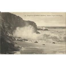 CPA: QUIBERON, Vagues à Port-Pigeon, vers 1910