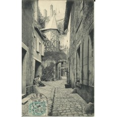 CPA: GIEN - Impasse du Billard - Années 1900