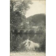 CPA: Gorges de CHOUVIGNY, Paysage au bord de la Sioule, vers 1910