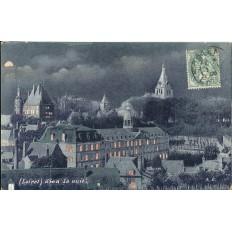 CPA: GIEN - La Nuit - Années 1900