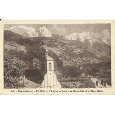 CPA: PASSY, L'Eglise, Vallée de Montjoie. Années 1910.