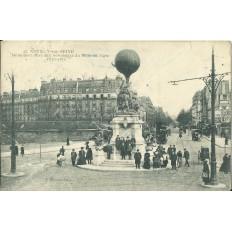 CPA: NEUILLY-sur-SEINE, Monument Elevé aux Aéronautes du Siège de Paris 1870-71, vers 1900