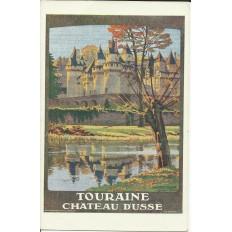 CPA: TOURAINE, Chateau d'USSE (AFFICHE TOURISTIQUE), Années 1920