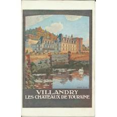 CPA: TOURAINE, Chateau de VILLANDRY (AFFICHE TOURISTIQUE), Années 1920