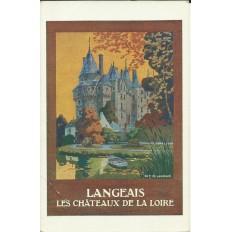 CPA: TOURAINE, Chateau de LANGEAIS (AFFICHE TOURISTIQUE), Années 1920