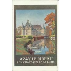 CPA: TOURAINE, Chateau d'AZAY-le-RIDEAU (AFFICHE TOURISTIQUE), Années 1920