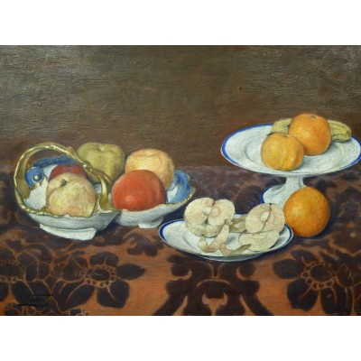 Victor Marius FARCY (1858-1942), STILL LIFE with FRUITS, OIL/ PANEL.